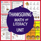 Thanksgiving Unit-Common Core Standards