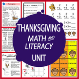 Thanksgiving Math and Literacy Unit-Common Core Standards