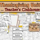 Thanksgiving Unit from Teacher's Clubhouse