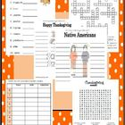 Thanksgiving Word Activity Fun (wordsearch, word scramble,