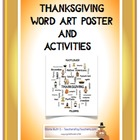 Thanksgiving Word Art Poster