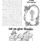 Thanksgiving Word Search Puzzle / 2nd Grade