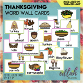 Thanksgiving Word Wall Cards (set of 14)