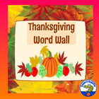 Thanksgiving Word Wall Vocabulary Words