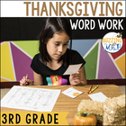 Thanksgiving Word Work Centers: compound words, syllables,