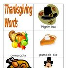 Thanksgiving Words for Writing Center and Vocabulary