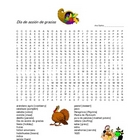 Thanksgiving Wordsearch Puzzle