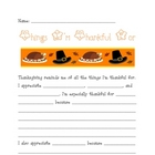 Thanksgiving Writing Assignment- What I&#039;m Thankful For