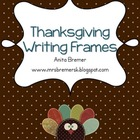 Thanksgiving Writing Frames