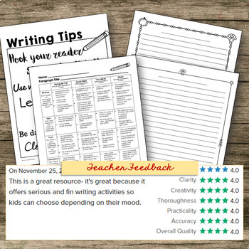 Thanksgiving Writing Prompts - Brainstorming, Writing Pape