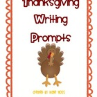 Thanksgiving Writing Prompts with Stationary