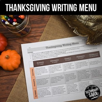 Thanksgiving Writing for Teens: Project with 40+ Multigenre Prompts