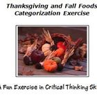 Thanksgiving and Fall Foods Categorizing Exercise