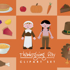 Thanksgiving clip art set