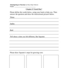 Thanksgiving on Thursday Worksheets (Magic Tree House #27)