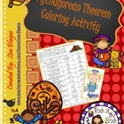 Thanksgiving or Fall Coloring Activity with Pythagorean Theorem