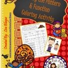 Thanksgiving or Fall Pattern & Function Coloring Activity