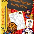 Thanksgiving or Fall Systems of Equations Coloring Activity
