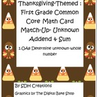 Thanksgiving-theme: First Grade Math Common Core Missing A
