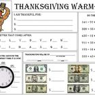 Thanksgiving warm up Worksheet