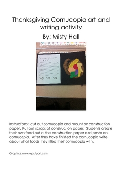 Thanksgiving writing and art project