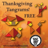 Thanksgiving/Autumn Tangrams - FREE {ZisforZebra}