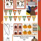 Thanksgiving/Dia de Gracias Preschool Pack {Spanish Version}