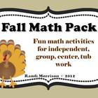 Thanksgiving/Fall Math Pack Bundle