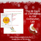 The 12 Days of Christmas in the Computer Lab--Word Processing