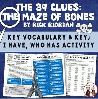 The 39 Clues: The Maze of Bones Comprehension Activity Guide