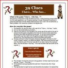 The 39 Clues: The Maze of Bones I Have, Who Has Vocabulary Game