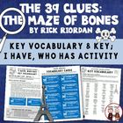 The 39 Clues: The Maze of Bones Vocabulary Word Study and Key