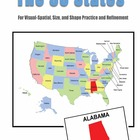 The 50 States: For Visual-Spatial, Size, and Shape Practic