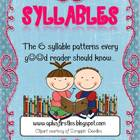 The 6 Syllable Patterns Mini-Posters