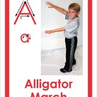 The ABC's of Movement educational flash cards