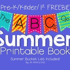 The ABC's of Summer {Kinder/1st Printable Book} End of Yea