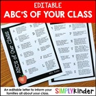 Editable ABC's of Your Class