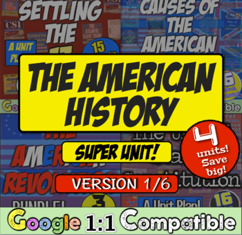 American History Super Unit - Version 1 - 5 Units in 1 Purchase! Save Big!