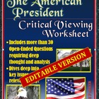 The American President (movie) -- Critical Viewing Questio