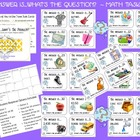 The Answer Is...What&#039;s The Question? Math Task Cards