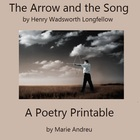 The Arrow and the Song Poetry Printable