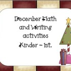 The Best of December- Kindergarten