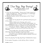 The Big, Big Bang Multiplication Game
