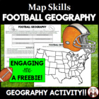 FREE The Big Game Geography Worksheet Activity