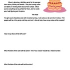 The Birthday Party Word Problem Set