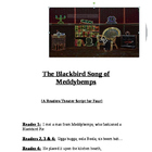 """The Blackbird Song of Meddybemps"" A Readers Theater Scrip"