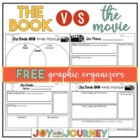 The Book vs. The Movie Graphic Organizers FREEBIE