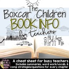 The Boxcar Children Book Info Sheet