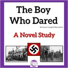 The Boy Who Dared A Novel Study with Questions, Vocab, Qui