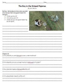 The Boy in Striped Pajamas - Study Guide and Chapter Questions